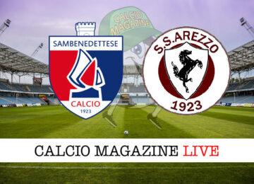 Sambenedettese Arezzo cronaca diretta risultato in tempo reale