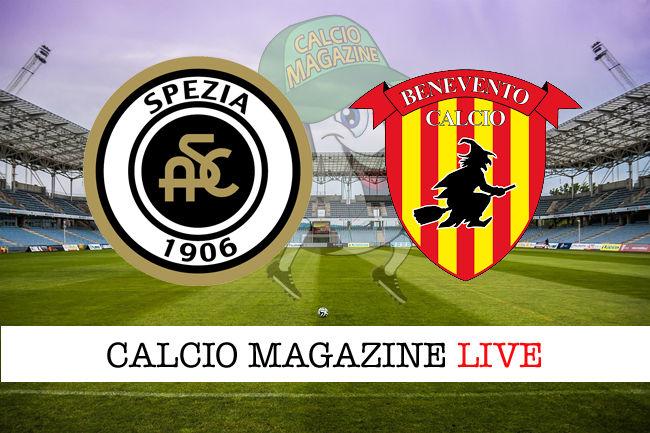 Spezia Benevento cronaca diretta risultato in tempo reale