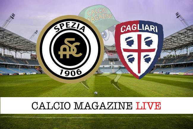 Spezia - Cagliari cronaca diretta live risultato in tempo reale