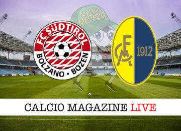 Sudtirol - Modena cronaca diretta live risultato in tempo reale