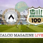 Udinese Sassuolo cronaca diretta risultato in tempo reale