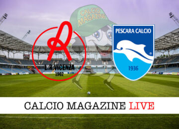 Vicenza - Pescara cronaca diretta live risultato in tempo reale