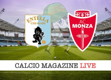Virtus Entella - Monza cronaca diretta live risultato in tempo reale