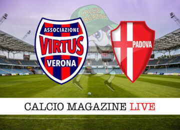 Virtus Verona Padova cronaca diretta live risultato in tempo reale