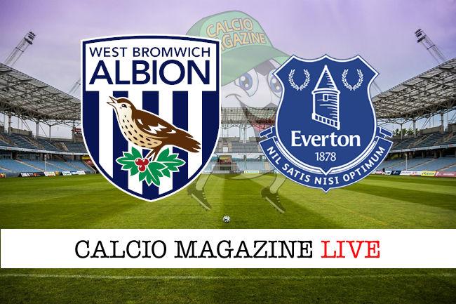 West Bromwich Everton United cronaca diretta risultato in tempo reale