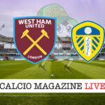 West Ham Leeds United cronaca diretta risultato in tempo reale