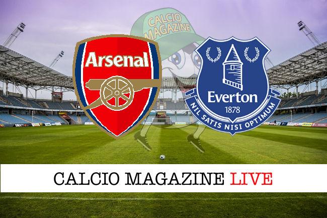 Arsenal - Everton cronaca diretta live risultato in tempo reale