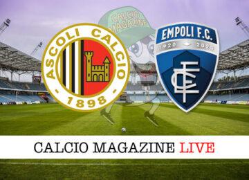 Ascoli - Empoli cronaca diretta live risultato in tempo reale