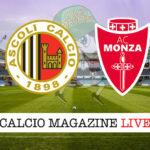 Ascoli Monza cronaca diretta live risultato in tempo reale
