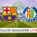 Barcellona - Getafe cronaca diretta live risultato in tempo reale