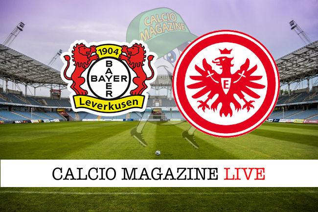 Bayer Leverkusen - Francoforte cronaca diretta live risultato in tempo reale
