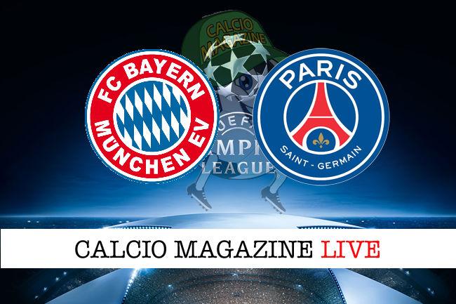 Bayern Monaco - PSG cronaca diretta live risultato in tempo reale