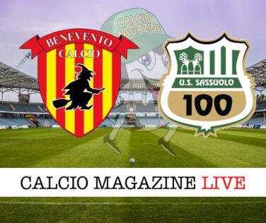 Benevento - Sassuolo cronaca diretta live risultato in tempo reale