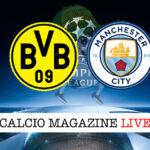 Borussia Dortmund - Manchester City cronaca diretta live risultato in tempo reale