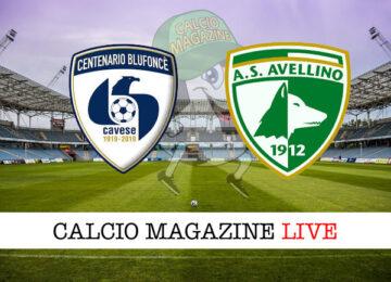 Cavese - Avellino cronaca diretta live risultato in tempo reale