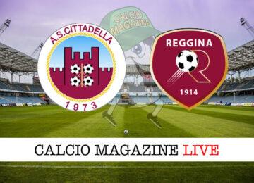 Cittadella - Reggina cronaca diretta live risultato in tempo reale