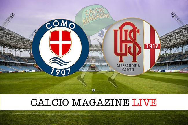 Como - Alessandria cronaca diretta live risultato in tempo reale