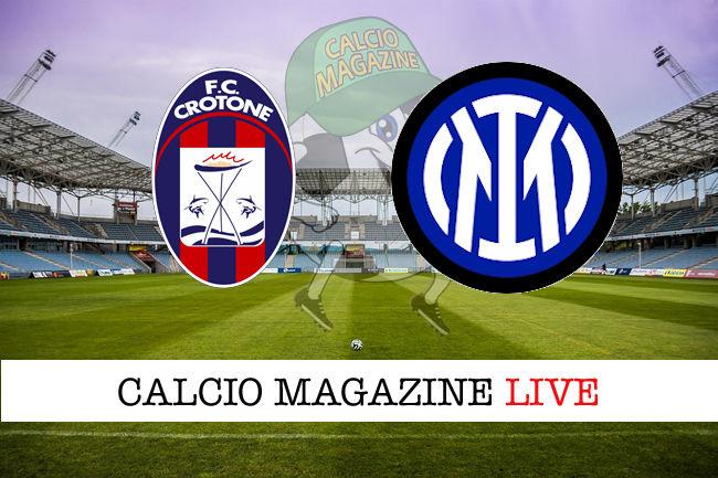 Crotone Inter cronaca diretta live risultato in tempo reale