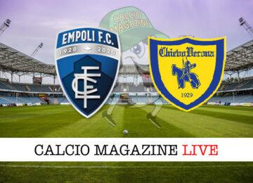 Empoli - Chievo Verona cronaca diretta live risultato in tempo reale