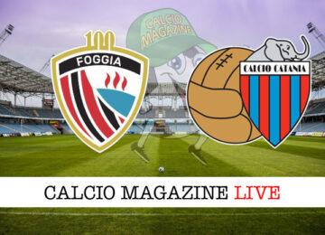 Foggia Catania cronaca diretta live risultato in tempo reale