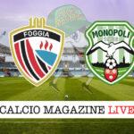 Foggia - Monopoli cronaca diretta live risultato in tempo reale