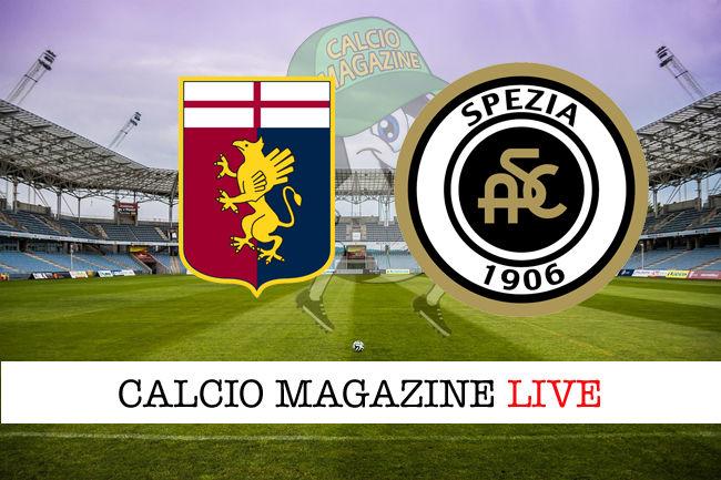 Genoa Spezia cronaca diretta live risultato in tempo reale