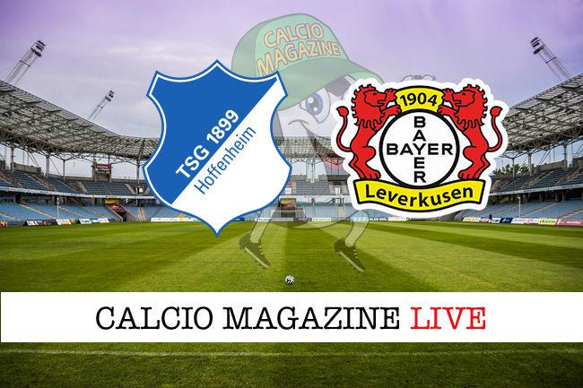 Hoffenheim - Leverkusen cronaca diretta live risultato in tempo reale