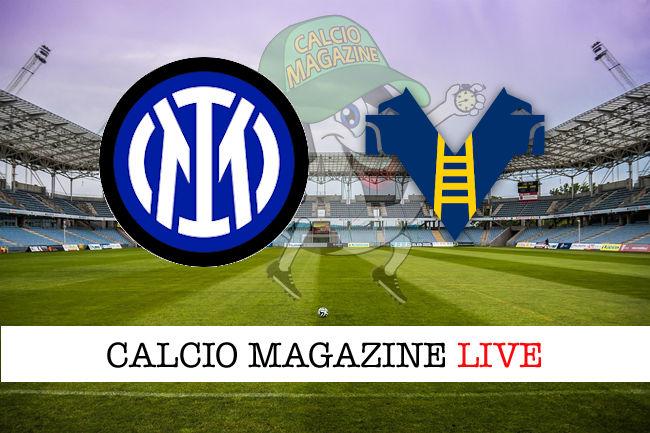Inter - Hellas Verona cronaca diretta live risultato in tempo reale