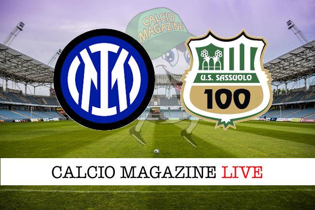 Inter - Sassuolo, le formazioni ufficiali del match  |Inter- Sassuolo