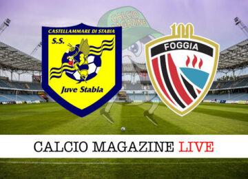 Juve Stabia - Foggia cronaca diretta live risultato in tempo reale