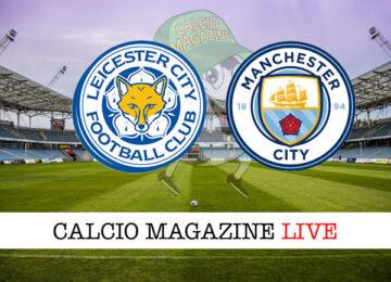 Leicester Manchester City cronaca diretta live risultato in tempo reale
