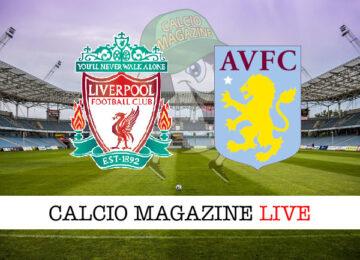 Liverpool - Aston Villa cronaca diretta live risultato in tempo reale
