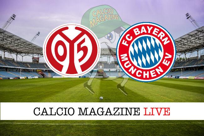 Mainz 05 - Bayern Monaco cronaca diretta live risultato in tempo reale