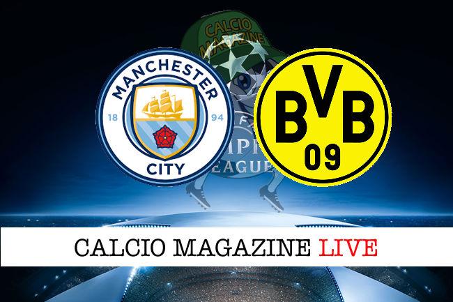Manchester City - Borussia Dortmund cronaca diretta live risultato in tempo reale