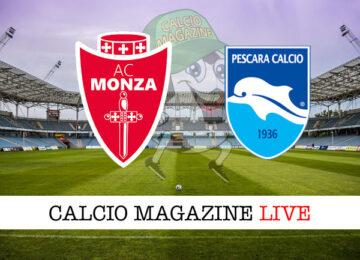Monza - Pescara cronaca diretta live risultato in tempo reale