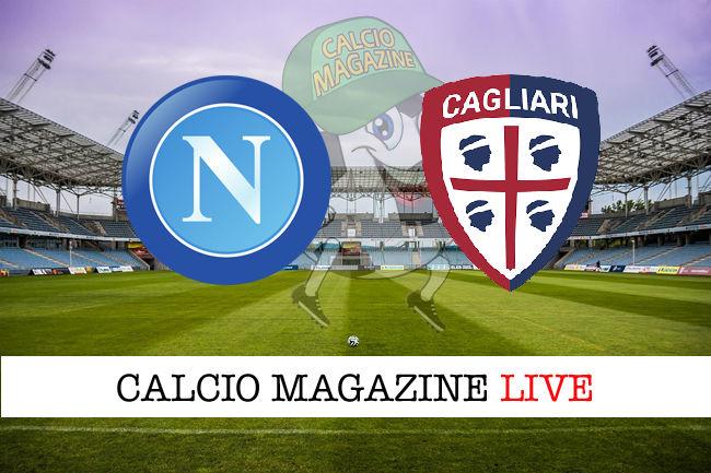 Napoli - Cagliari cronaca diretta live risultato in tempo reale