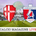 Padova - Sambenedettese cronaca diretta live risultato in tempo reale