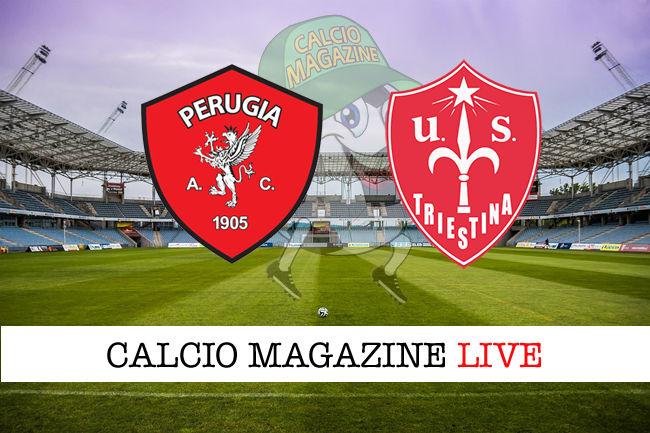Perugia - Triestina cronaca diretta live risultato in tempo reale