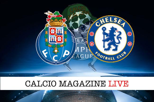 Porto Chelsea cronaca diretta live risultato in tempo reale