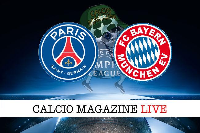 PSG - Bayern Monaco cronaca diretta live risultato in tempo reale
