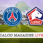 PSG Lille cronaca diretta live risultato in tempo reale
