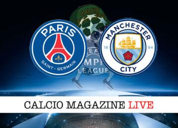PSG - Manchester City cronaca diretta live risultato in tempo reale