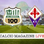 Sassuolo - Fiorentina cronaca diretta live risultato in tempo reale