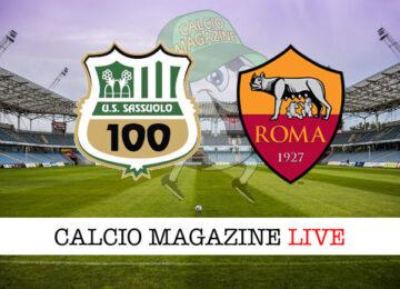 Sassuolo - Roma cronaca diretta live risultato in tempo reale