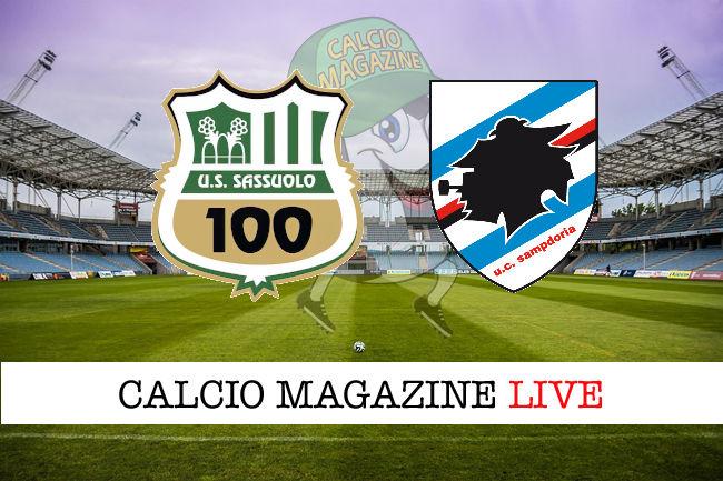 Sassuolo - Sampdoria cronaca diretta live risultato in tempo reale