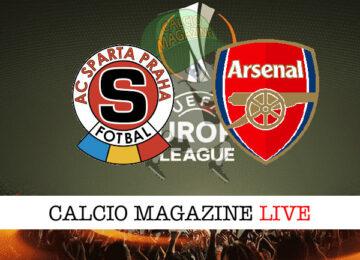 Slavia Praga - Arsenal cronaca diretta live risultato in tempo reale