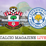 Southampton - Leicester cronaca diretta live risultato in tempo reale