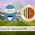 SPAL Ascoli cronaca diretta live risultato in tempo reale