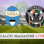 SPAL - Venezia cronaca diretta live risultato in tempo reale