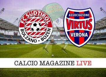 Sudtirol - Virtus Verona cronaca diretta live risultato in tempo reale
